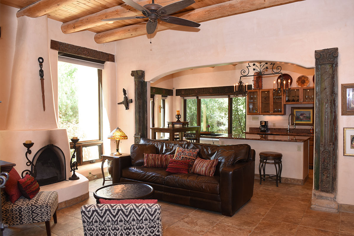 Taos Villas-NM9-living-room-toward-kitchen-and-dining